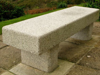 Coverack Granite Bench
